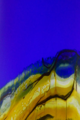 Cobalt Translucent Strata color detail