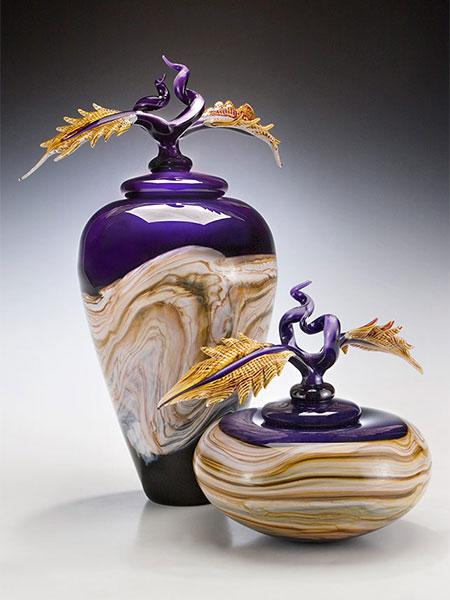 Strata Series Art Glass